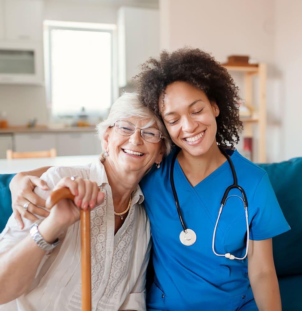 Nurse Comforting Woman